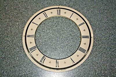 """Vintage Smiths 4"""" small mantel clock chapter ring/dial/face spares/repairs/parts"""