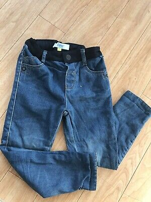Ted Baker Boys 3/4 Years Sid Skinny Ripped Blue Jeans Used 3-4