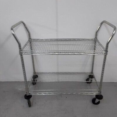 Commercial Trolley Clearing Restaurant Service 2 Tier
