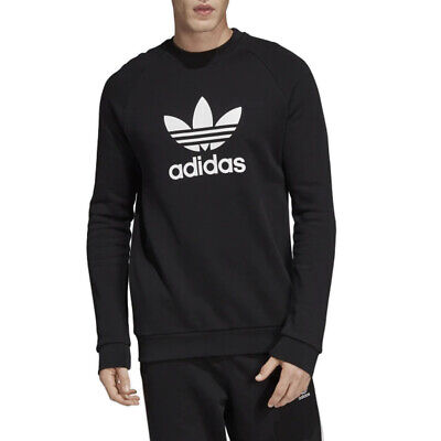 Felpa Girocollo Uomo Adidas Originals Trefoil Warm Up Crew Nera Taglia XL Cod...