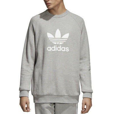Felpa Girocollo Uomo Adidas Originals Trefoil Warm Up Crew Grigia Taglia M Co...