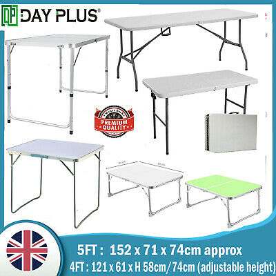 Heavy Duty Portable Folding Trestle Table For Garden,Catering,Camping,Picnic BBQ
