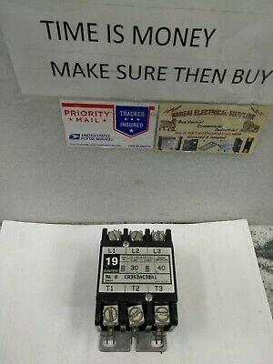 CR353AC3BA1  3 Pole 30 Amp 600v Rated 120V Coil  TESTED GE Contactor