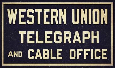 wall decor  Wester Union telegraph cable messages accepted here metal tin sign
