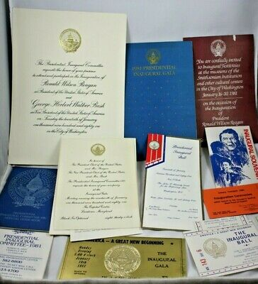 LOT OF 10 1981 Presidential Inaugural Beverage Tickets Ronald Reagan RARE!