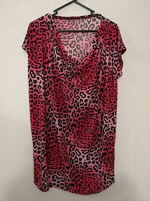 Womens New Pink Floral Print Turquoise Dress Cap Sleeves Plus Size  *LICK*