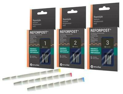 Angelus Refropost Fibre Post Parallel Shape with Grooves Select Size 1-2-3 Any