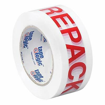 "Tape Logic 2 Inch x 110 Yards Pre-Printed Packing Tape""Repack"" 2.2 Mil Thick ..."