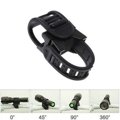 Hot Cycling Bicycle Bike Mount Holder 360° for LED Flashlight Torch Clip Clamp
