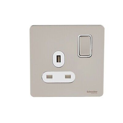 Schneider Ultimate Pearl Nickel Oven engraved grid switch cover GUGROVPN
