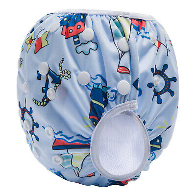 Pirates Swim Nappy Baby Cover Reusable Multifit Diaper Pants Swimmers