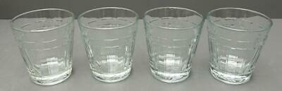 1 Flat Tumbler 12 oz Clear Glass Longaberger woven traditions One