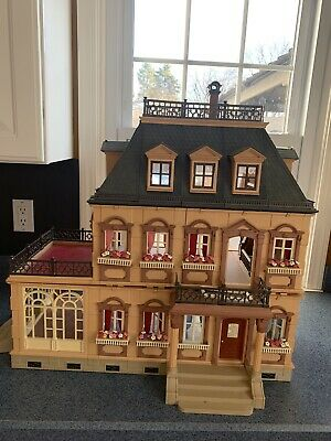 Playmobil Victorian Mansion Dollhouse Roof Corner Section Part# 30 05 697 Gray