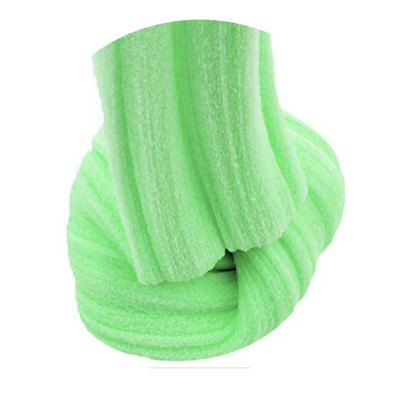 Green Cloud Slime Drizzle Fluffy UK Seller Free activator Glitter Stress Toy