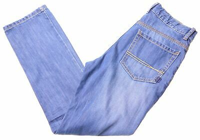 TOMMY HILFIGER Boys Jeans 11-12 Years W28 L27 Blue Cotton Straight  NL06