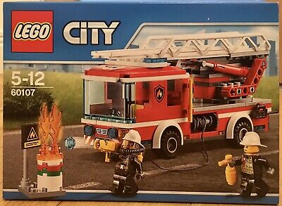 Manual Only LEGO City Fire Ladder Truck 60107