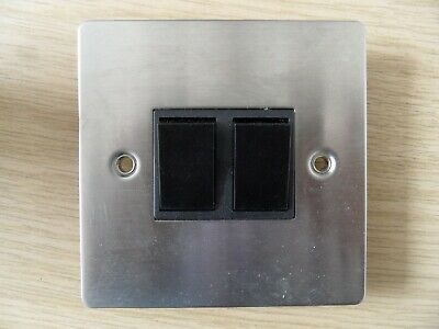 Volex 20 A Double Pole Switch VX1070SS Brushed Stainless Steel