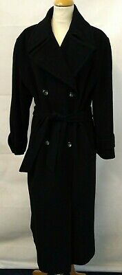 Austin Reed Ladies Coat Black Wool Cashmere Double Breasted Long Coat Size 12 41 00 Picclick Uk