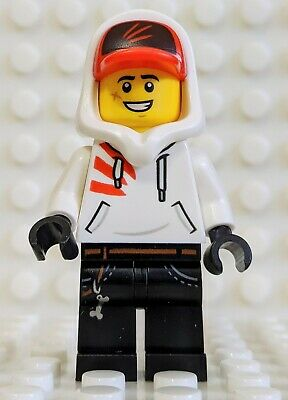 hs004 Hidden Side Jack Davids Minifigure- w//White Hoodie and Hood New LEGO