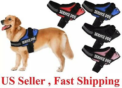 No Pull Service  Dog Pet Harness Adjustable Control Vest Dogs Reflective S m L x