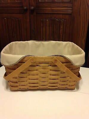 Recipe Basket Liner From Longaberger Oatmeal Fabric