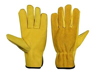 LISCOMBE LEATHER WORK  TRUCK DRIVER GLOVES SIZE 9 PACK OF  five pairs