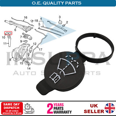 Vauxhall Opel Corsa D Astra H Zafira B lave-glace Bouchon De Bouteille 6450562