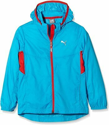 Puma Kid's Sports Jacket Full Zip Sports Wind Jacket - Blue - New