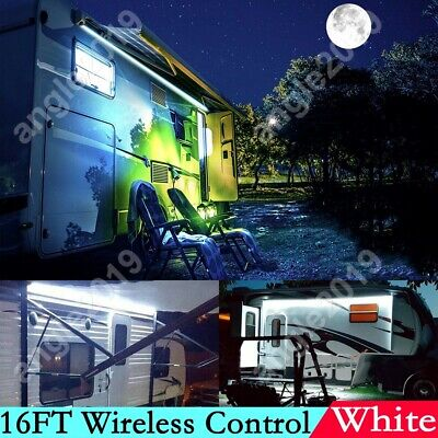 16FT RV Awning Camper Party White Led Light Strip IP65 Fit Dometic 9100 Series