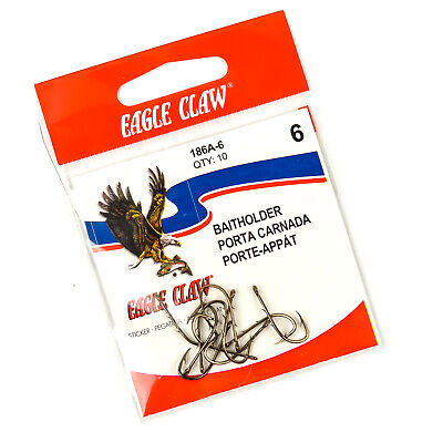 Lot 3 Eagle Claw 084-4 Classic Offset Ringed Eye Bronze 100 Pack Size 4 Hooks