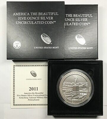 2014 P Smoky Mountains ATB America the Beautiful Matte Finish 5 Oz Silver w//OGP