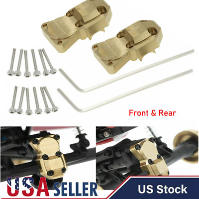 2pcs Brass Front Rear Axle Diff Housing Cover for Axial SCX24 1/24 RC Crawler