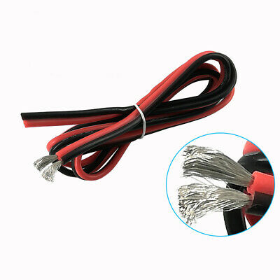 2-Core 2-Pin Twin Silicone Cable Flexible Wire 600V 8//10//12//14//16//18//20-28AWG