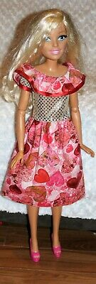 PREORDER. Barbie/'s  my size 28 inch Christmas red dress /& necklace.NO DOLL