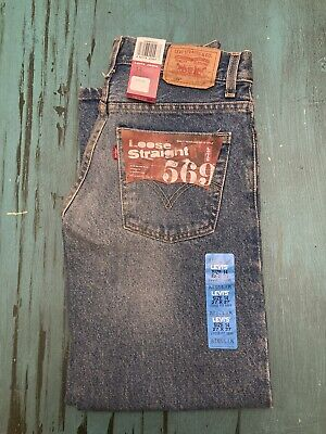 NWT Levis 569 Loose Straight Fit Jeans Boys Size 14 Regular 27 x 27