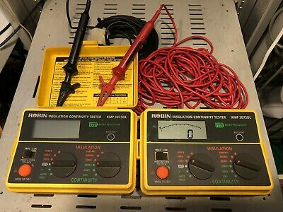 Robin Insulation Continuity Testers X 2 Units KMP 3075DL PAT Testers