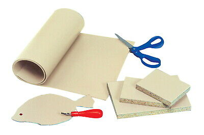 Sax Easy-To-Cut Unmounted Linoleum, 4 x 6 Inches, Pack of 12