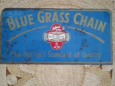 """VTG BRUTON OLD RELIABLE SWEET MILD SNUFF ADVERTISING SIGN 24/"""" X 3/"""" THIN METAL"""