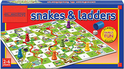 Snake & Ladder Board Game Traditional Kids Family Fun Adult Toy Indoor Outdoor