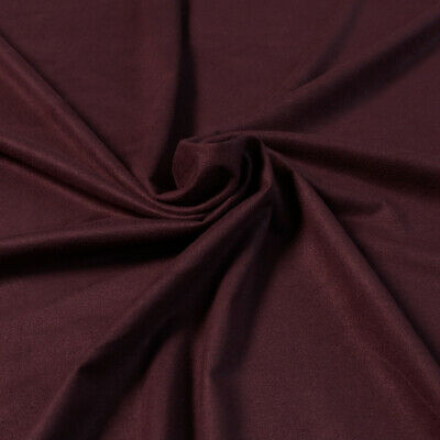"""1 MTR WINE RED STRETCH SUADE FABRIC..58"""" WIDE,FURNISHING,JACKETS,SHIRTS £1.99"""