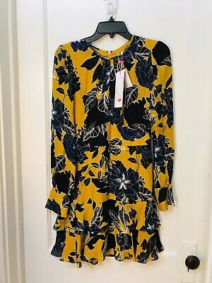 Parker Hayley long sleeve tiered a-line floral print dress NWT size 4 $368.00