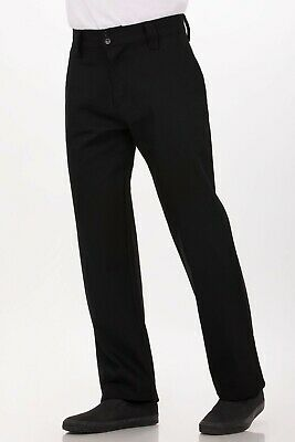 Chef Works Mens Essential Pro Chef Pants Black Size 30 (PS005)