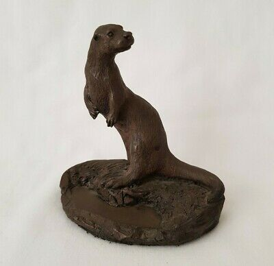 North Light Sculptures English Cold cast Bronze Resin Figure - Otter Standing