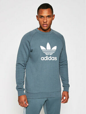 ADIDAS ORIGINALS Felpa Girocollo TREFOIL CREW WARM UP Uomo GN3471 Garzata