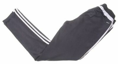 ADIDAS Boys Tracksuit Trousers 13-14 Years Black Polyester AD09