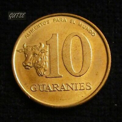 Paraguay, 10 Guaranies 1996, Cow Head, Uncirculated.