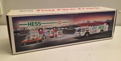 1989 Hess 'Toy Fire Truck/Bank' - Never Displayed MIB / Box VG Condition