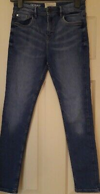 Matalan Boys Mid blue, stretch, skinny fit jeans – age 13 years. Excellent Cond
