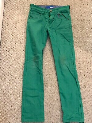 Next Green Straight Fit Boys Jeans Age 10-11/11-12  Zip Fly Denim Pocketed