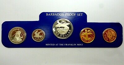 Barbados Proof Coin Set of 5 Coins 1 5 10 25 Cents & 1 Dollar 1979 (83,3)